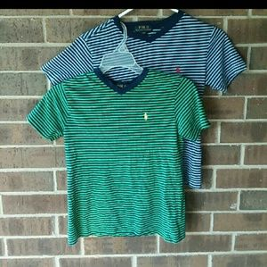 Ralph Lauren 2 Striped T-shirts size 8